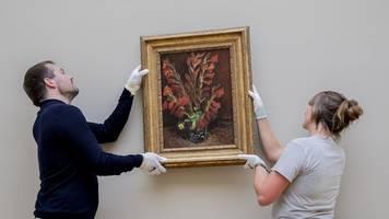 Van-Gogh Ausstellung im Museum Barberini im Aufbau
