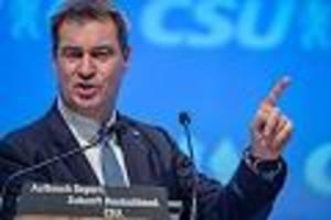 Starkes Ergebnis - Markus Söder mit 91,3 Prozent als CSU-Chef wiedergewählt