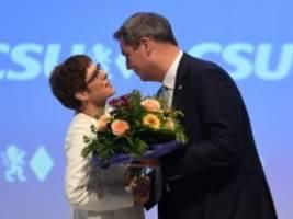 AKK und Söder auf CSU-Parteitag: Traumpaar auf Zeit