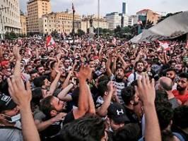 Demonstration in Beirut: Libanesen gehen weiter auf die Straße