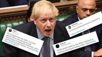 Niederlage im Unterhaus: Ehre, wem Ehre gebührt – er ist verdammt gut darin, zu verlieren. – Twitter grillt Boris Johnson