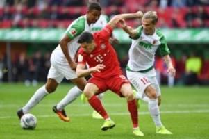 Bundesliga: FC Bayern verliert in Augsburg Punkte und Abwehrchef
