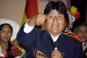 wahl in bolivien: pr�sident morales strebt vierte amtszeit an