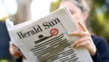 Pressefreiheit: Australische Zeitungen erscheinen mit geschwärzten Titelseiten