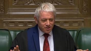 Erneute Schlappe für Boris Johnson: Parlamentspräsident John Bercow: Britisches Unterhaus darf nicht über Brexit-Deal abstimmen