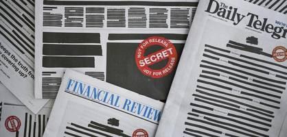 australische tageszeitungen schwärzen ihre titelseiten