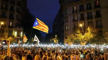 Demonstrationen: Katalanische Separatisten protestieren die siebte Nacht in Folge