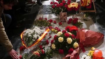 spanien: ex-diktator franco bekommt ein neues grab