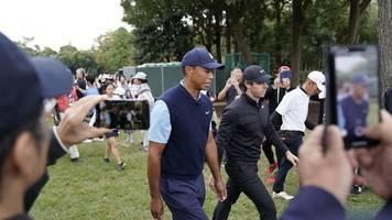 golf-superstar - nach knie-op: woods zweiter bei show-event in japan