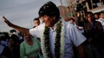 wahl in bolivien: morales muss offenbar in stichwahl