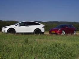 Zwei Starkstromer auf Tour: Langstreckentest mit Tesla Model X und 3