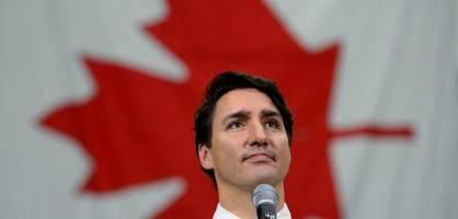premierminister trudeau ohne absolute mehrheit bestätigt
