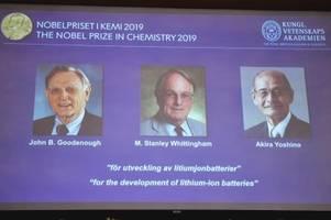 chemie-nobelpreis für die väter der lithium-ionen-batterie