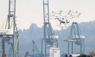 flugtaxi volocopter in singapur eine minute in der luft