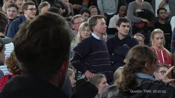 Universität Hamburg: Vorlesung von AfD-Mitbegründer Lucke erneut von Demonstranten gestört