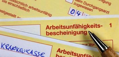 Deutsche Arbeitnehmer melden sich immer öfter krank
