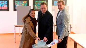 landtagswahl in thüringen: ramelow, mohring, höcke: spitzenkandidaten geben stimme ab