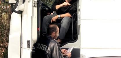 So geht die Polizei Oldenburg gegen unaufmerksame Lkw-Fahrer vor