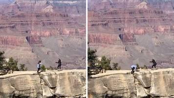 Lebensgefährliche Aktion: Grand Canyon: Tochter will Foto von ihrer Mutter machen – dann tritt sie plötzlich ins Leere