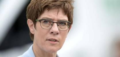 Kramp-Karrenbauer plant Nationalen Sicherheitsrat