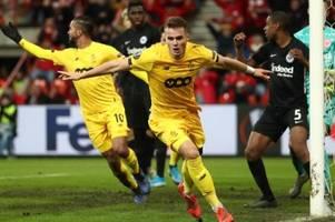 Europa League: Frankfurt bangt ums Weiterkommen
