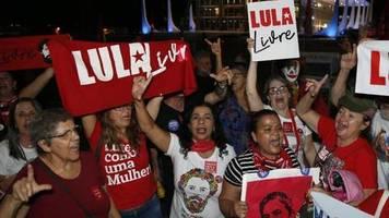 Haftstrafe wegen Korruption: Brasiliens Ex-Präsident Lula wieder auf freiem Fuß