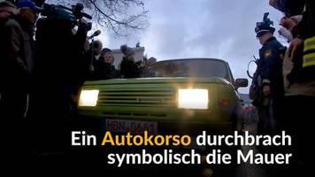 Video: Trabi-Parade zu 30 Jahre Mauerfall