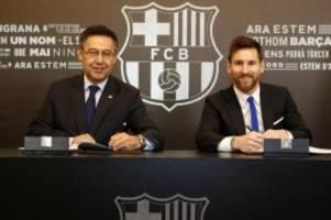Primera División: Barça-Präsident Bartomeu: Bereiten die Ära nach Messi vor