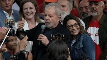 Freilassung: Brasiliens Ex-Präsident Lula aus der Haft entlassen