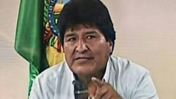 Boliviens Präsident Morales kündigt seinen Rücktritt an