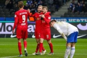 Sieg bei Hertha BSC: RB Leipzig auch ohne feine Klinge im Siegesrausch