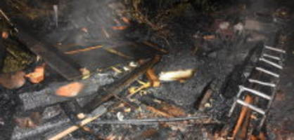 Alt St. Johann SG: Waldhütte durch Brand völlig zerstört