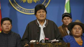 Opposition sieht Wahlbetrug: Boliviens Präsident Evo Morales erklärt seinen Rücktritt