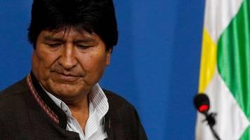 Umsturz in Bolivien: Präsident Evo Morales tritt zurück