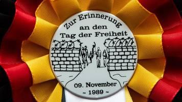 Gedenken und Freude: Thüringen feiert 30 Jahre Mauerfall