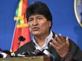 Boliviens Ex-Präsident: Mexiko gewährt Evo Morales Asyl