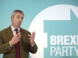 Wahlkampf in Großbritannien: Brexit-Partei geht Johnsons Tories aus dem Weg