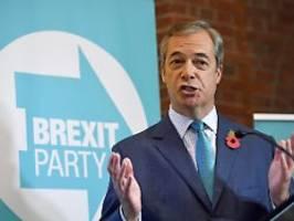 Brexit-Partei hilft Tories: Farage kommt Johnson bei Wahl entgegen