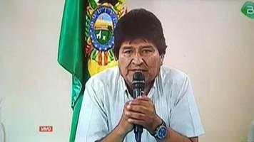 Video: Boliviens Präsident Morales spricht von Putsch