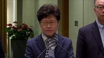 Video: Hongkongs Regierungschefin: Protestierende sind Feinde der Bevölkerung