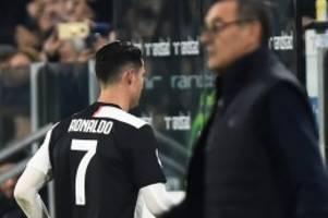 fußball-ticker: eklat in turin: ronaldo verlässt juventus-stadion vorzeitig