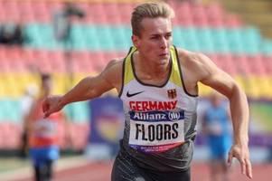 sprint-könig floors vergoldet weltrekord - bronze an streng