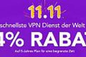 Aktion zum Singles Day - Top-VPN-Dienst jetzt für umgerechnet nur 1,29 Euro im Monat