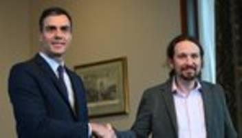 Pedro Sánchez : Spaniens Sozialisten und linke Podemos wollen koalieren