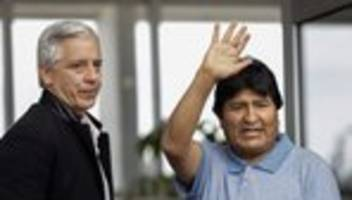 Bolivien: Evo Morales in Mexiko angekommen