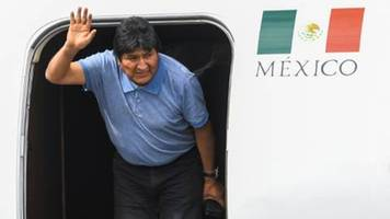 Gestürzter bolivianischer Präsident Morales in Mexiko-Stadt gelandet