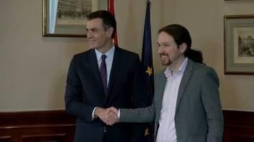 Video: Spaniens Sozialisten und linke Podemos wollen Koalition bilden
