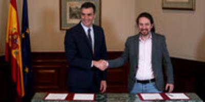 Regierungsbildung in Spanien: Podemos und Sozialisten sind einig
