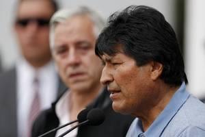 evo morales in mexiko eingetroffen