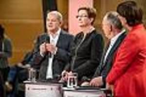 Rennen um Parteivorsitz - Scharfes SPD-Duell: Auf Kritik am Deal zur Grundrente reagiert Scholz ungehalten